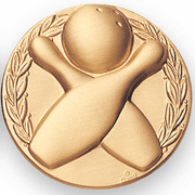 Bowling GENERAL 10 Pin Medal Insert - Click to enlarge