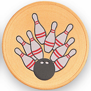 Bowling (482871) Litho Medal Insert - Click to enlarge