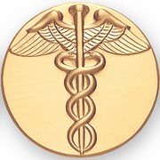 Caduceus Litho Medal Insert - Click to enlarge