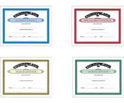 School Subject Certificate Awards - Click to enlarge
