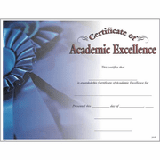 Certificate of Academic Excellence - Click to enlarge