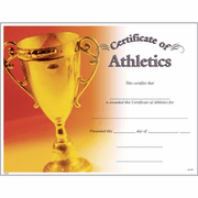 Certificate of Athletics - Click to enlarge