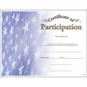 Certificate of Participation - Click to enlarge