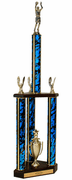 Quick-Ship Two-Tier 3-Column Trophies - Basketball - Click to enlarge