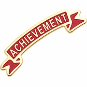 Chenille ACHIEVEMENT Pins - Click to enlarge