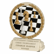 Chess Cast Stone Trophy - Click to enlarge