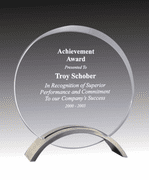 Circle Award - Acrylic with Pewter Finish Base - Click to enlarge