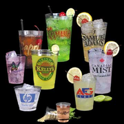 Custom Cups (plastic) and Custom Shot Glasses - Click to enlarge