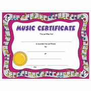 Colorful Music Certificates - Click to enlarge