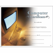 Computer Certificates - Click to enlarge