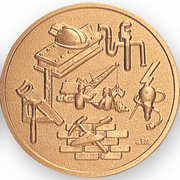 Construction Litho Medal Insert - Click to enlarge