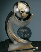 Continental Award with Removable Globe - Click to enlarge