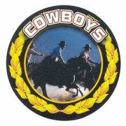 Cowboys Mascot Medal Insert - Click to enlarge