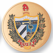 Cuban Shield Medal Insert (Etched) - Click to enlarge