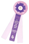 Large Size Three Streamer Custom Rosette Ribbons - Click to enlarge