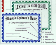 Custom Certificates - Click to enlarge