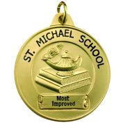 Custom Economy School Award Medal - Click to enlarge
