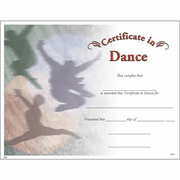 Dance Certificates - Click to enlarge