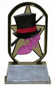 Eco Starz Trophy - Star Dance (Top Hat & Cane) - Click to enlarge
