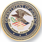 Department Of Justice Medal Insert (Etched) - Click to enlarge