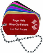 Racing Engraved Dog Tag - Click to enlarge