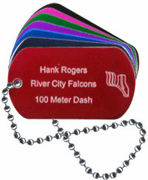 Track Dog Tag - Click to enlarge
