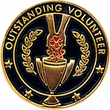 Outstanding Volunteer Pin - Click to enlarge