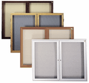 Enclosed Fabric Tackboards - 2 Door Models - Click to enlarge