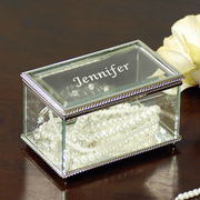Engraved Beveled Glass Jewelry Box - Click to enlarge