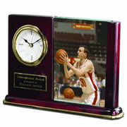 Engraved Clock & Photo Holder - Click to enlarge