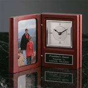 Engraved Gift Clock w/Photo Holder - Click to enlarge