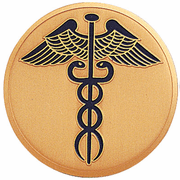 Caduceus Medal Insert (Etched) - Click to enlarge