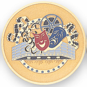 Etched Drama Medal Insert - Click to enlarge