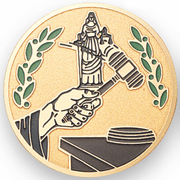 Justice Medal Insert (Etched) - Click to enlarge