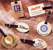 Etched Luggage & Golf Bag Name Tags - Click to enlarge