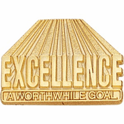 Excellence - A Worthwhile Goal Lapel Pin - Click to enlarge