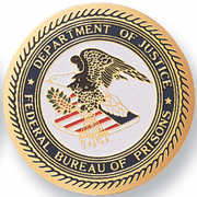 Federal Bureau Of Prisons Medal Insert (Etched) - Click to enlarge
