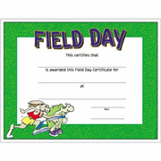 Field Day Certificates - Click to enlarge