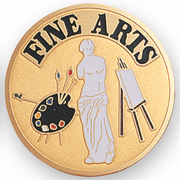 Fine Arts Painting Sculpture Medal Insert (Etched) - Click to enlarge