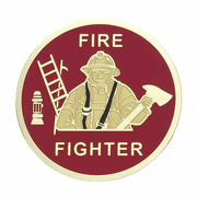 Fire Fighter Medal Insert (Etched) - Click to enlarge