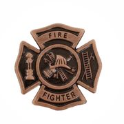 Firefighter Maltese Cross Pin - Click to enlarge