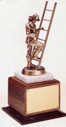 Firefighters Trophy on Walnut Base - Click to enlarge