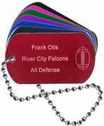 Football Dog Tags - Click to enlarge
