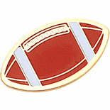 Football Shaped Lapel Pins - Click to enlarge
