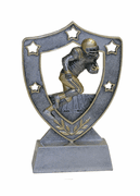 Star Shield Engraved Trophy - Football Running Back - Click to enlarge