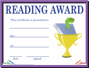 Reading Template - Click to enlarge