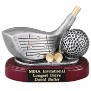 Golf Driver & Ball Trophy - Click to enlarge