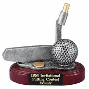 Putter & Golf Ball Trophy - Click to enlarge