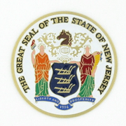 Great Seal Of New Jersey Medal Insert (Etched) - Click to enlarge