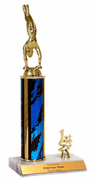 Gymnastics Place Trim Trophies (1st, 2nd, 3rd) - Click to enlarge